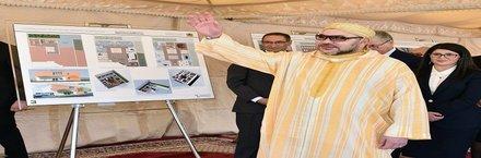 جلالة الملك يشرف على إطلاق عدد من المشاريع الاجتماعية بسلا