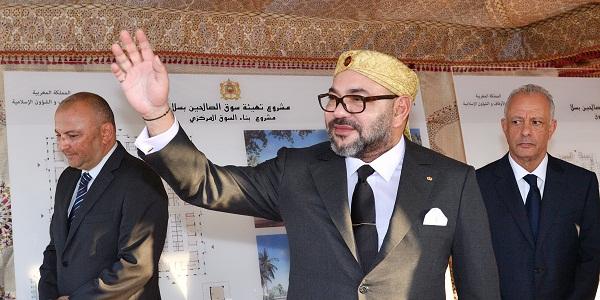"""صاحب الجلالة الملك محمد السادس، نصره الله، يشرف على إعطاء انطلاقة مشروع تهيئة """"سوق الصالحين"""""""