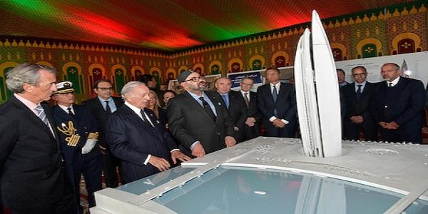 """جلالة الملك يترأس حفل الإطلاق الرسمي لأشغال بناء """"برج محمد السادس"""""""